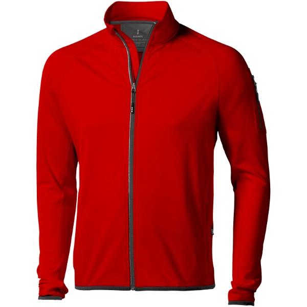 Mani men's performance full zip fleece jacket - Red / XL