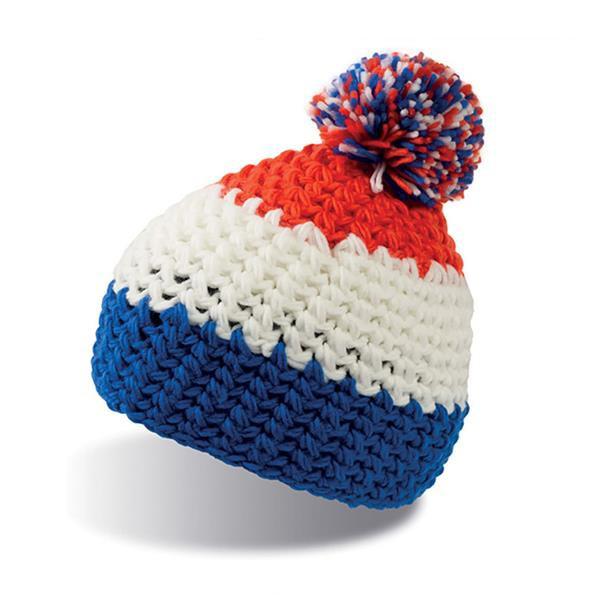 Everest Beanie - Azul Royal E Branco