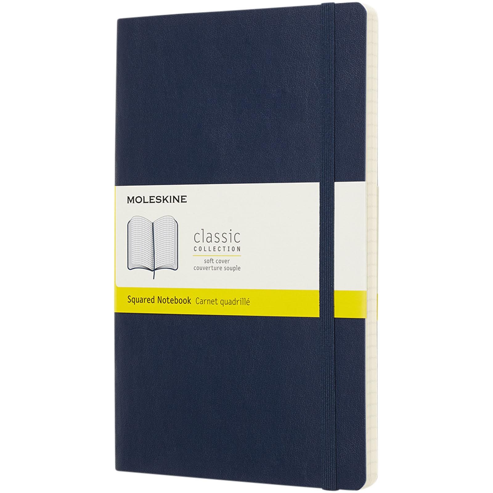 Classic L soft cover notebook - squared - Sapphire blue
