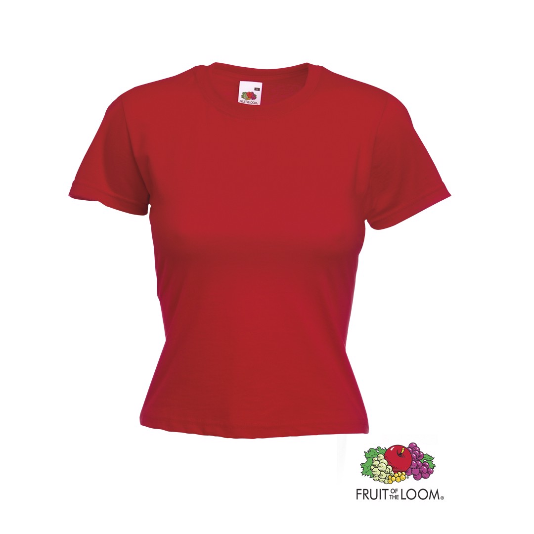 Camiseta Mujer Color Valueweight - Rojo / L