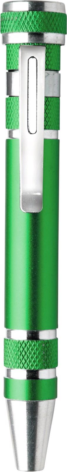 Aluminium pocket screwdriver - Light Green
