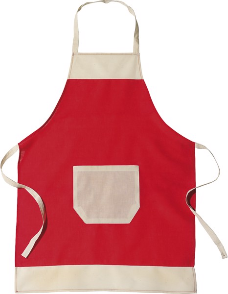 Cotton (145 gr/m²) apron - Red