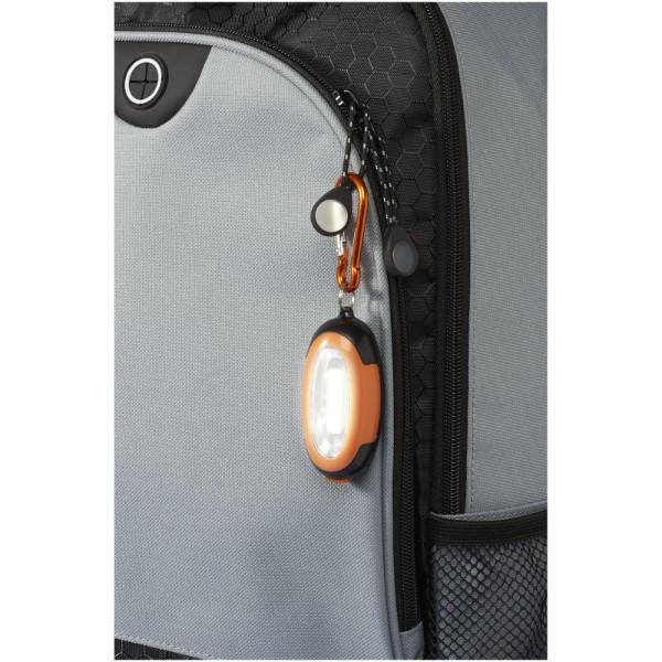 COB svítilna Atria s karabinou - 0ranžová / Černá