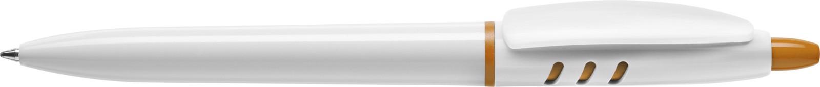Stilolinea S30 plastic ballpen - White / Orange