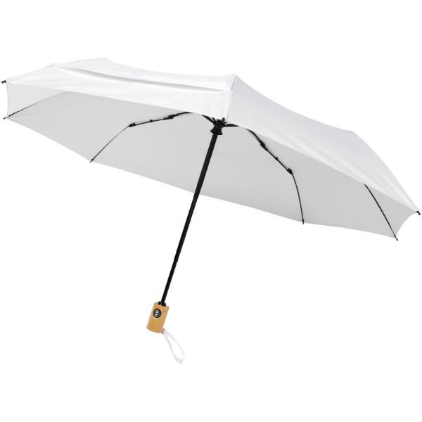 """Skládací deštník z recyklovaného PET s automatickým otevíráním/zavíráním Bo 21"""" - Bílá"""