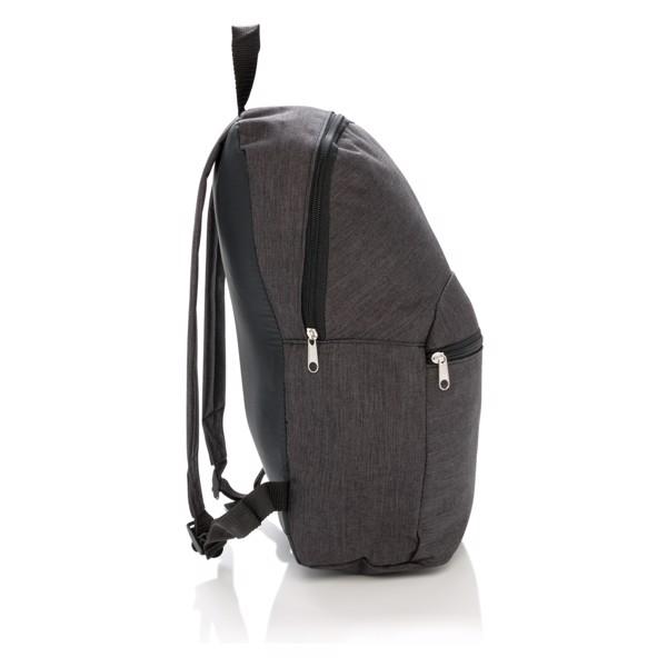 Základní dvoubarevný batoh - Antracitová