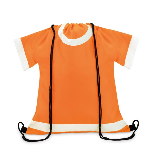 210D polyester drawstring bag T-Draw - Orange