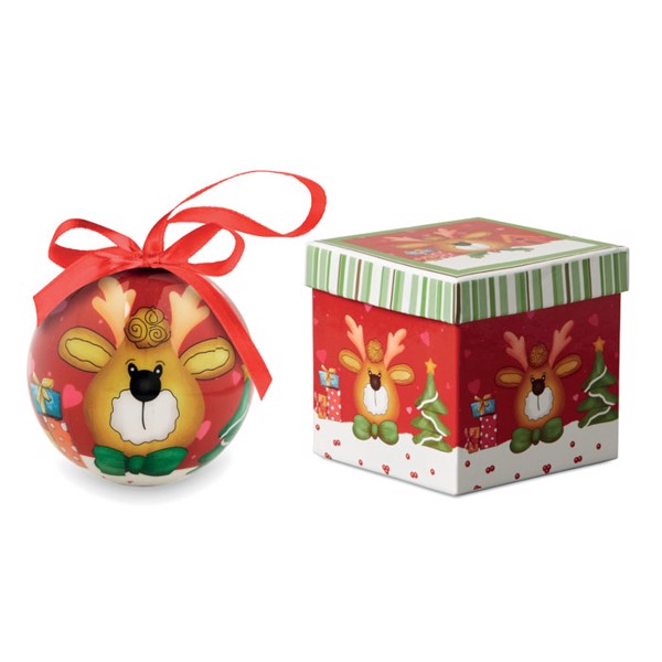 Christmas bauble in gift box Rendy