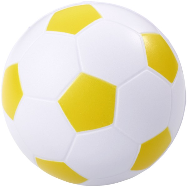 Antistresový míč Football - Žlutá / Bílá