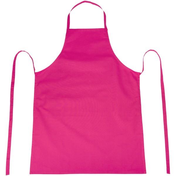 Reeva 100% cotton apron with tie-back closure - Magenta