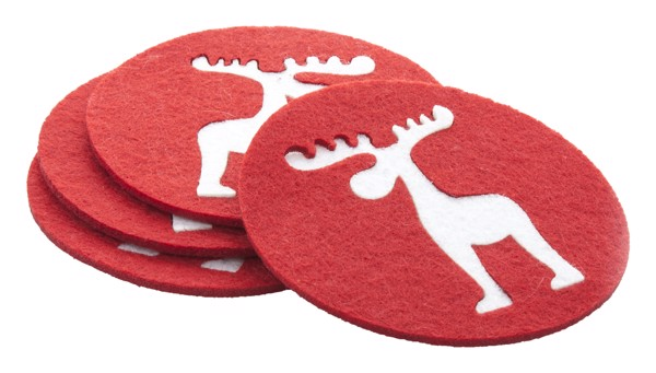 Coaster Set Mandi - Red