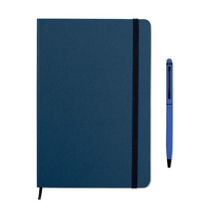 Zestaw notes z długopisem Neilo Set - granatowy