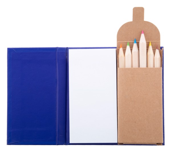 Notepad With Pencils Lumar - Blue