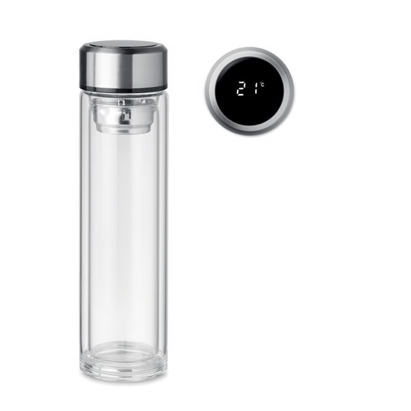 Butelka z termometrem na dotyk Pole Glass