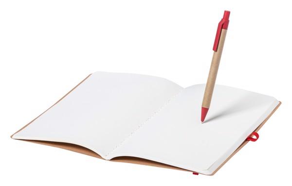 Notebook Esteka - Red / Natural