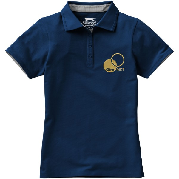 Hacker Poloshirt für Damen - Navy / Grau / XL