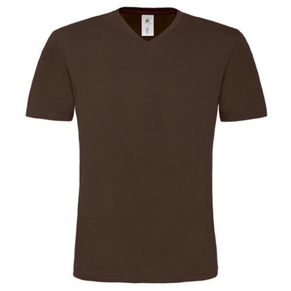T-Shirt B&C Mick Classic Men 145G - 100% Algodão - Castanho / XL