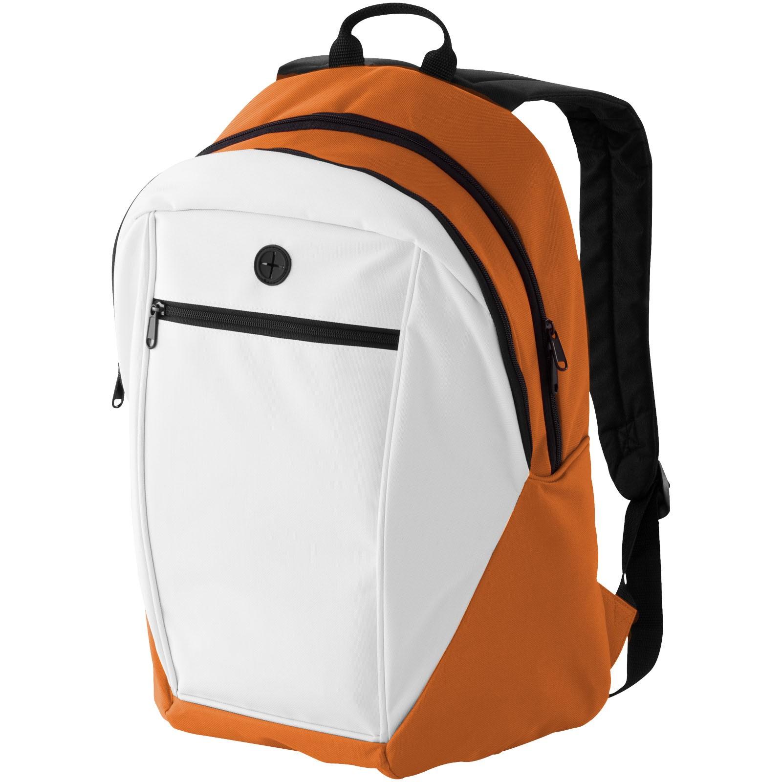 Ozark Rucksack - orange / weiss / schwarz