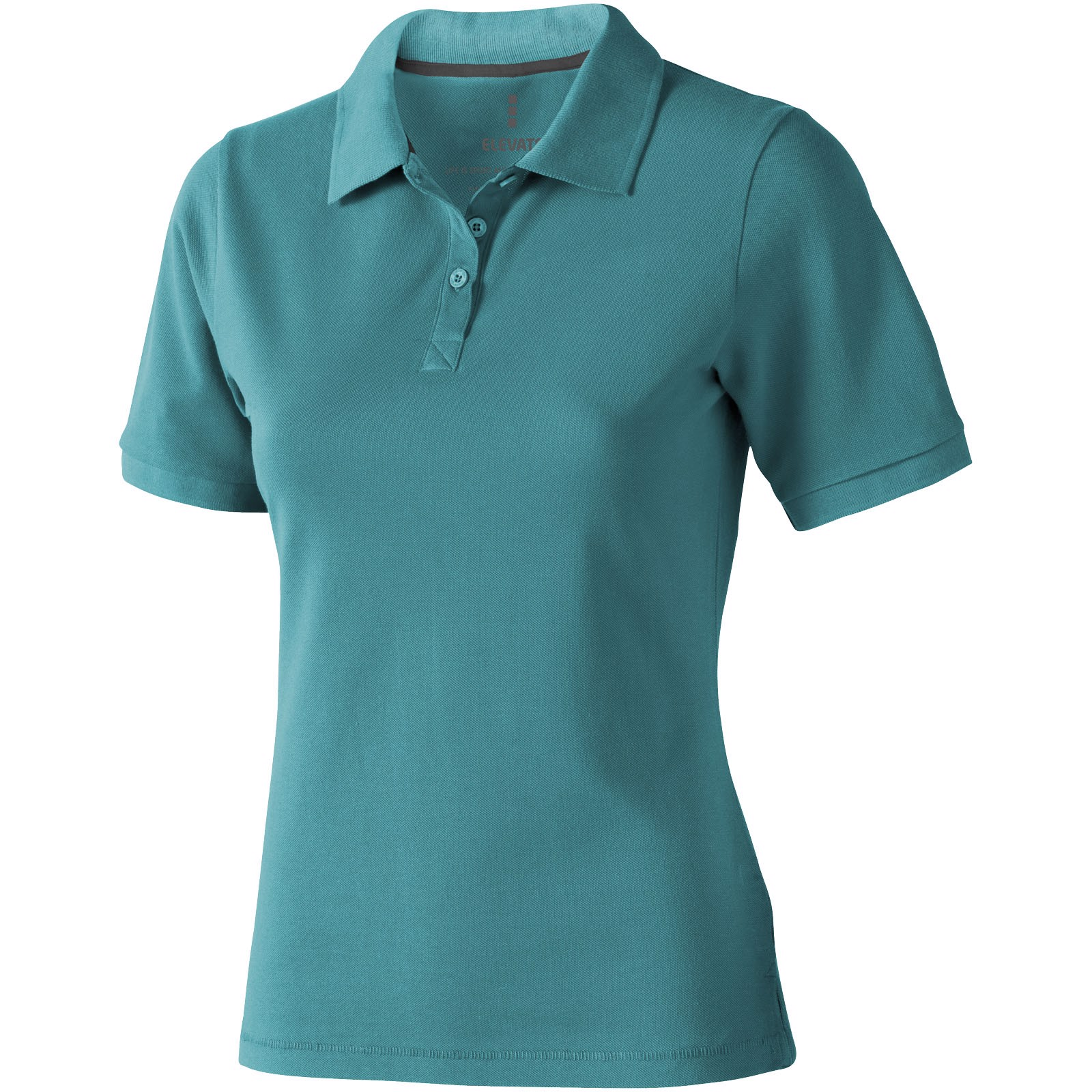Calgary short sleeve women's polo - Aqua / M