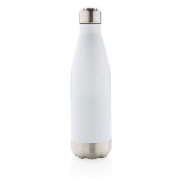 Vákuumszigetelt palack rozsdamentes acélból - Fehér