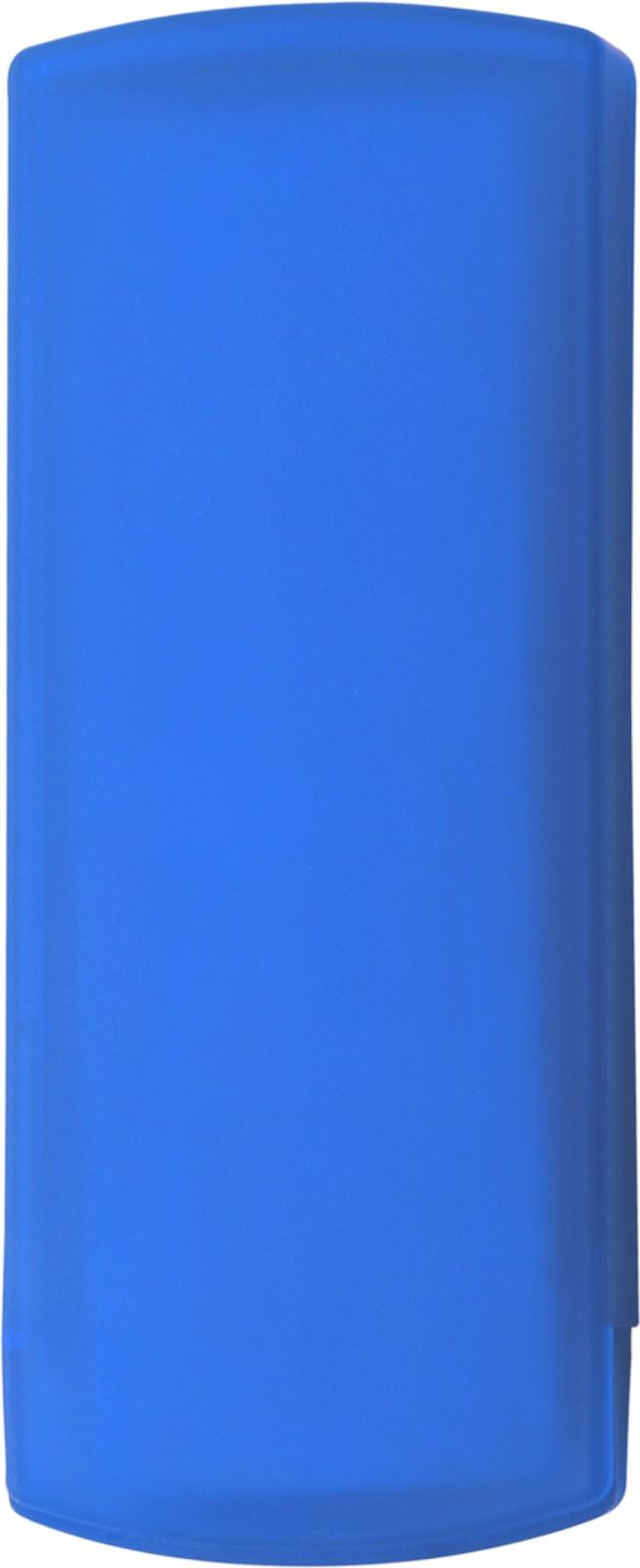 Plastic case with plasters - Cobalt Blue