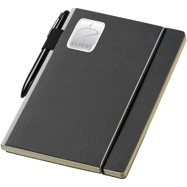 Cuppia A5 hard cover notebook - Solid black / Grey