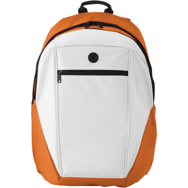 Ozark headphone port backpack - Orange / White / Solid black