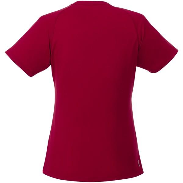 Amery dámské cool fit v-neck tričko s krátkým rukávem - Červená s efektem námrazy / XXL