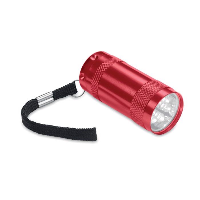 Aluminiowa mini latarka Texas - czerwony