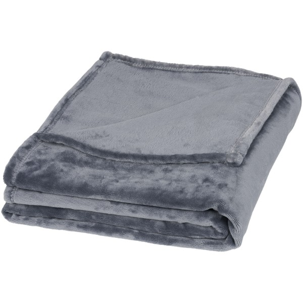 Mollis oversized ultra plush plaid blanket - Grey