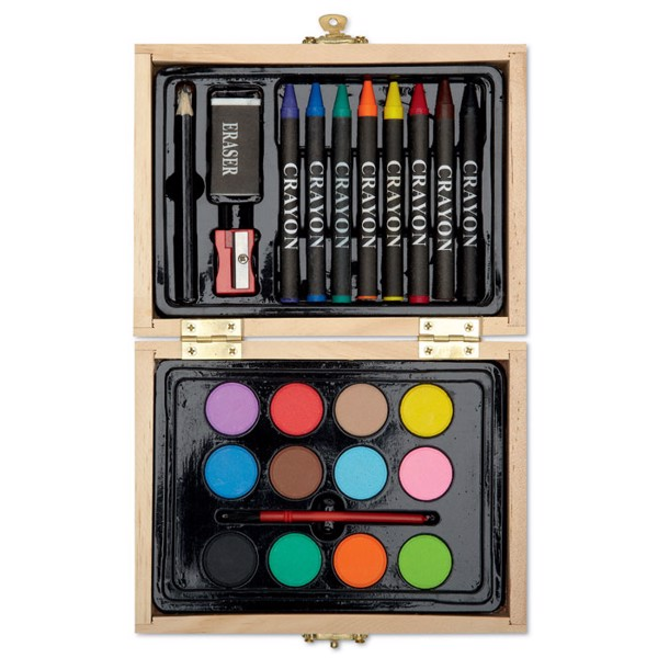 Painting set in wooden box Beau