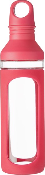 Glass drinking bottle (590ml) - Red