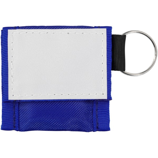 Henrik mouth-to-mouth shield in polyester pouch - Royal blue