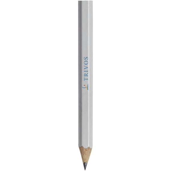 Cosimo mini pencil with coloured barrel - White
