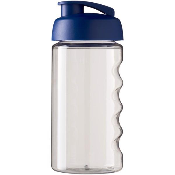 Sportovní láhev s vyklápěcím víčkem H2O Bop® 500 ml - Průhledná / Modrá