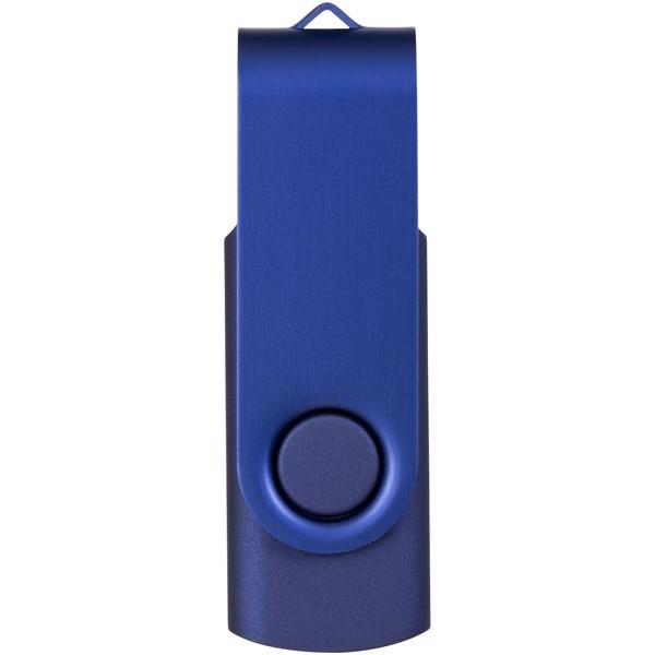 Rotační metalické USB - Modrá / 8GB