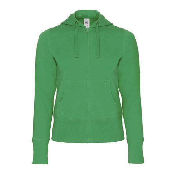 Hooded Full Zip Women - Verde / M