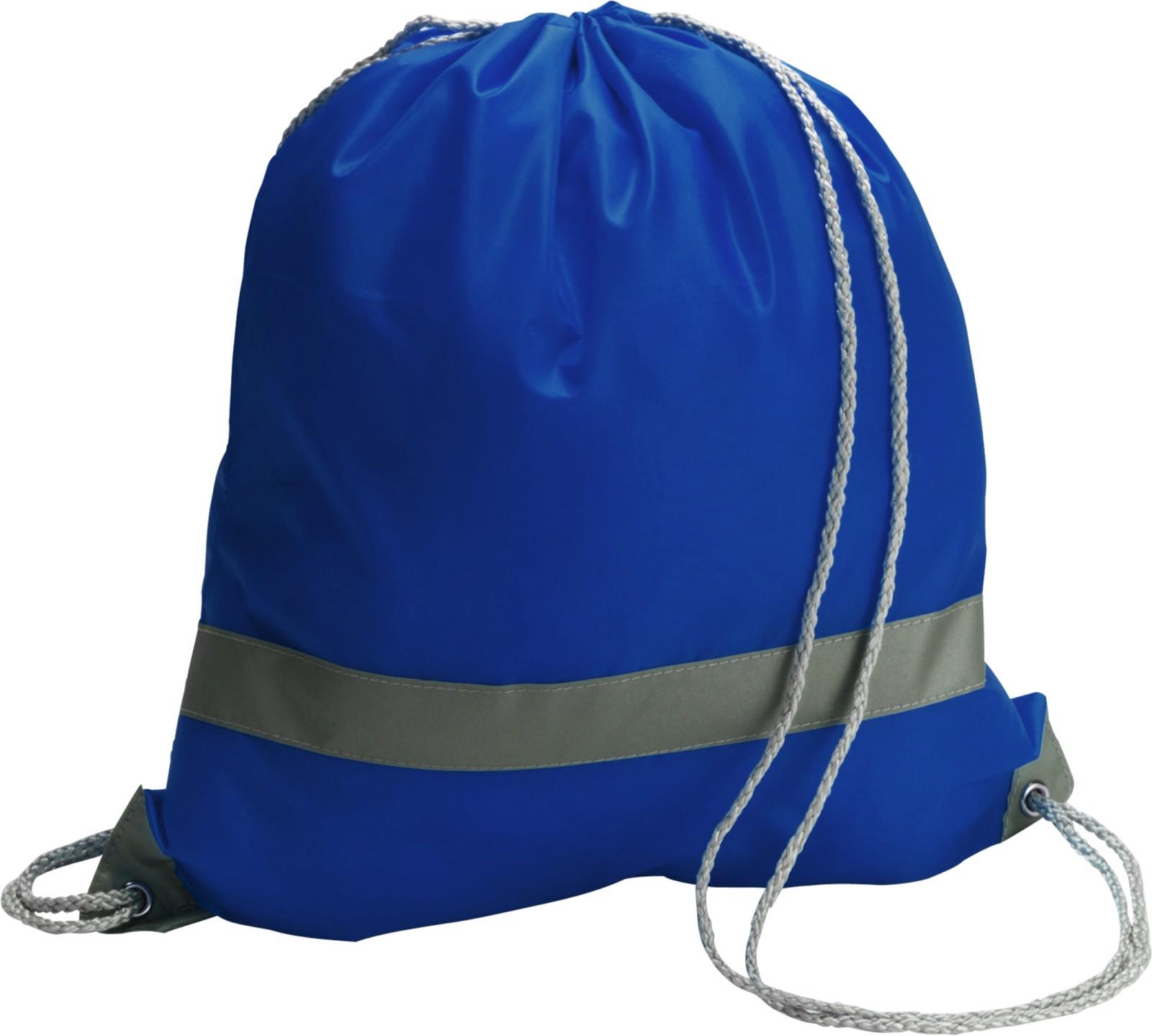 Polyester (190T) drawstring backpack - Cobalt Blue