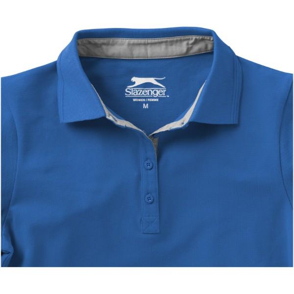 Hacker Poloshirt für Damen - Himmelblau / Grau / M