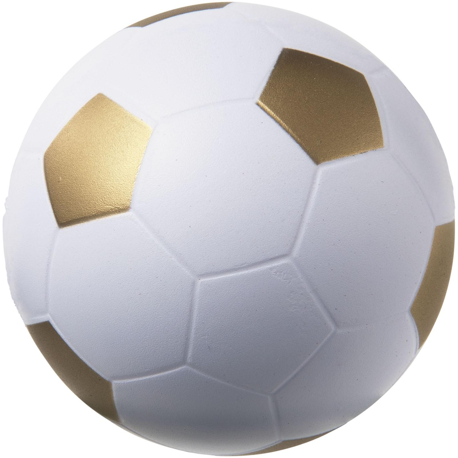 Antistresový míč Football - Zlatá / Bílá