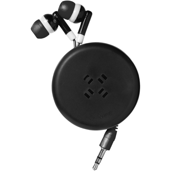 Reely retractable earbuds - Solid black