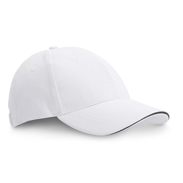 "CHRISTOPHE. ""Sandwich"" cap - White"