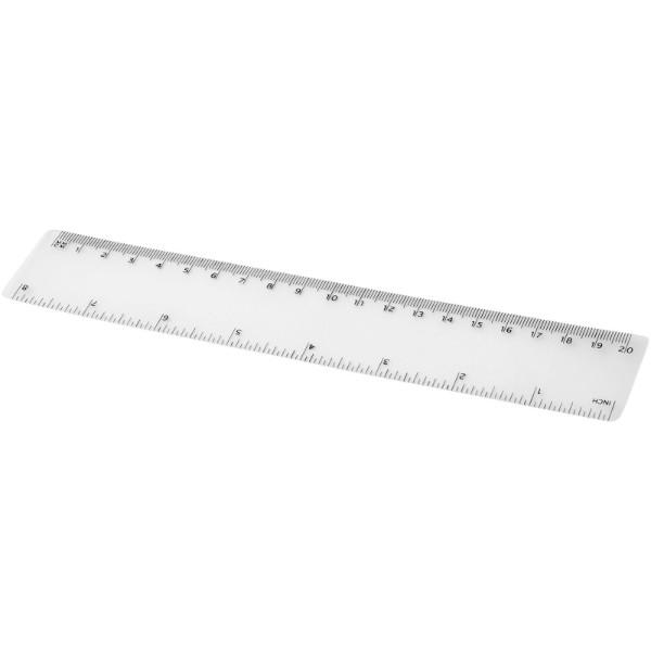 Rothko 20 cm plastic ruler - Transparent