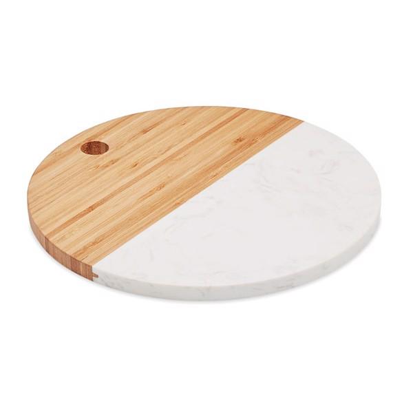 Marble/ bamboo serving board Hannsu