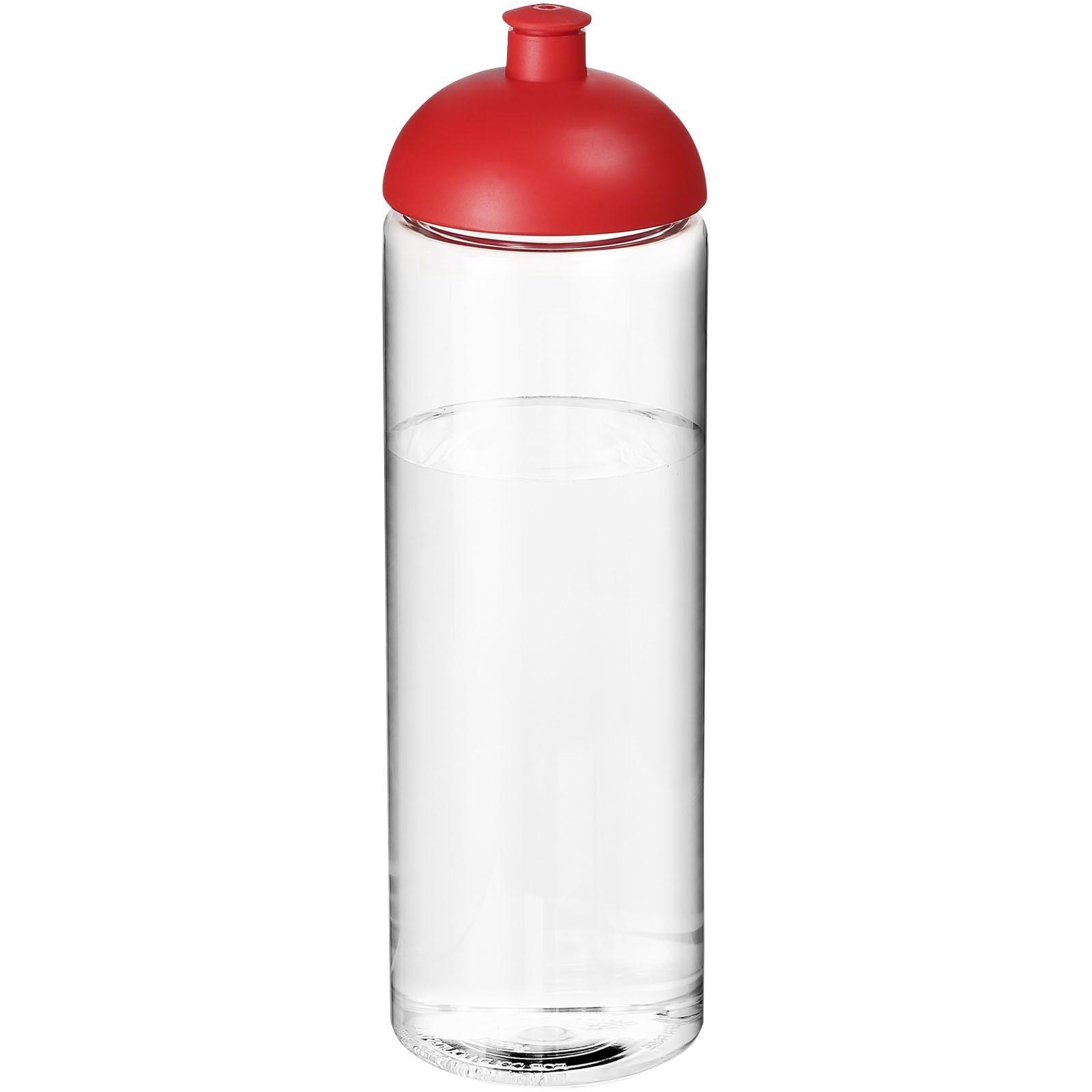 H2O Vibe 850 ml sportovní lahev s kupolovitým víčkem - Průhledná / Červená s efektem námrazy