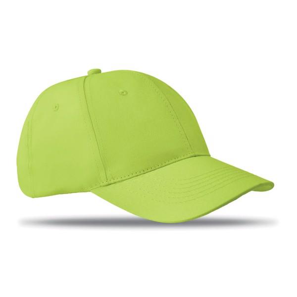 6 panels baseball cap Basie - Lime