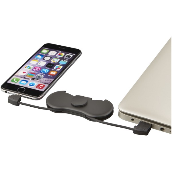 Spin-it charging cable widget - Solid black