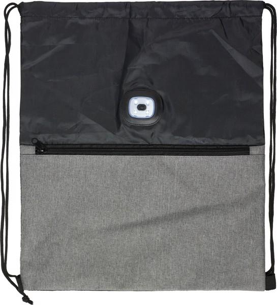 Turnbeutel 'Duo' aus Polyester - Black