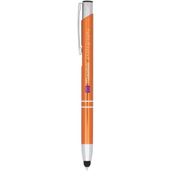Kuličkové pero Moneta s kovovým úchopem - 0ranžová