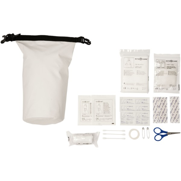 Alexander 30-piece first aid waterproof bag - White